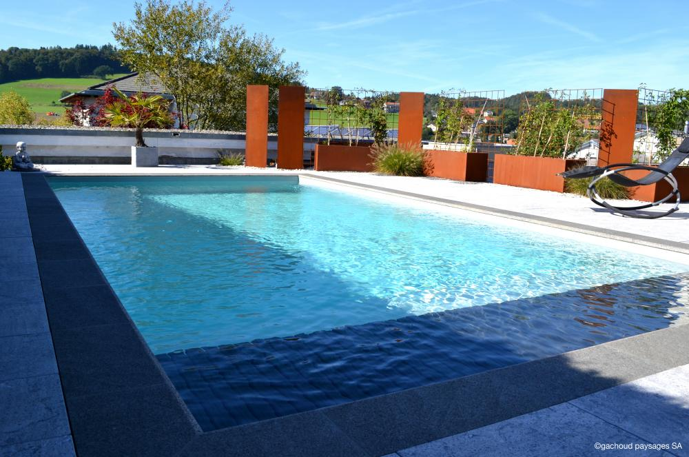 Piscine inconito gachoud paysages sa paysagiste fribourg for Piscine fribourg